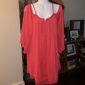 Gorgeous coral dress/cover up